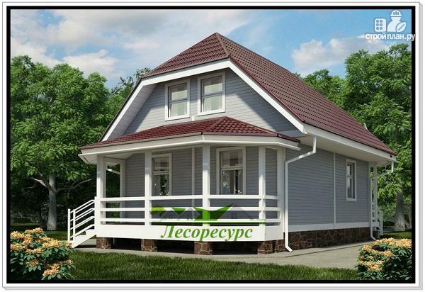 Фото: проект каркасный дом с верандой