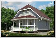 Фото: каркасный дом с верандой