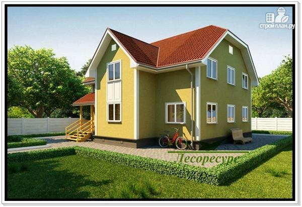 Фото 2: проект каркасный дом с двумя входами