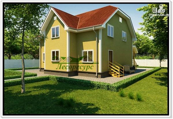 Фото 3: проект каркасный дом с двумя входами