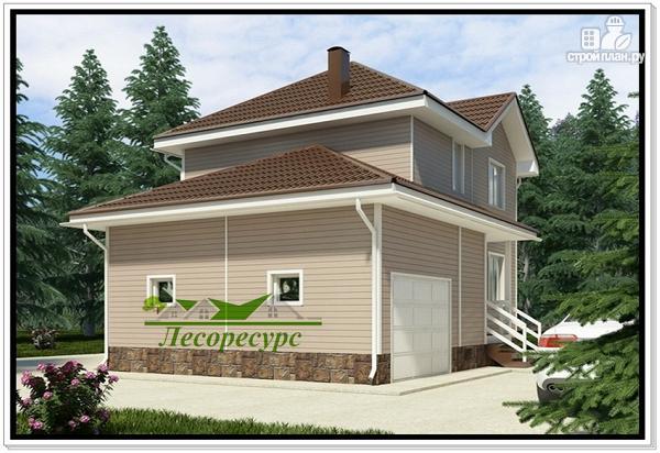 Фото 2: проект каркасный дом с гаражом