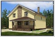 Проект дачный каркасный дом