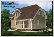 Фото: двухэтажный каркасный дом