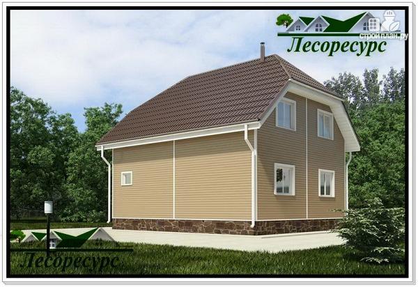 Фото 3: проект двухэтажный каркасный дом