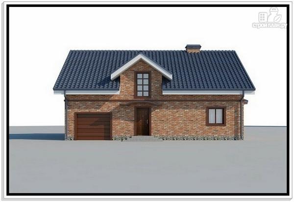 Фото 2: проект дом из пеноблоков с эркером