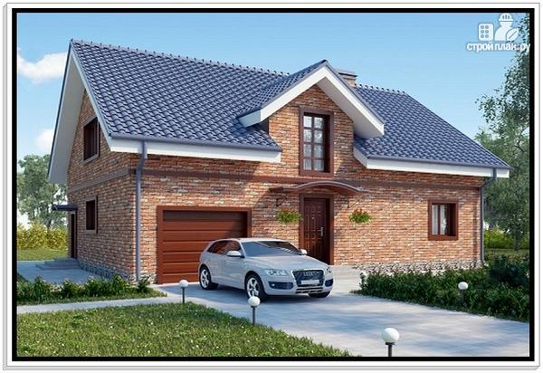 Фото: проект дом из пеноблоков с эркером