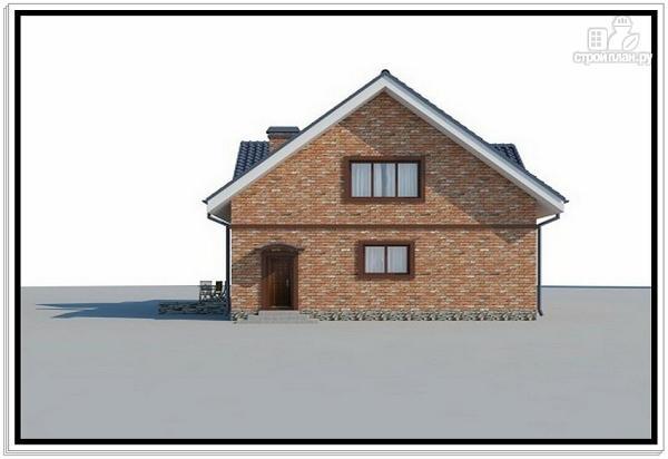 Фото 3: проект дом из пеноблоков с эркером