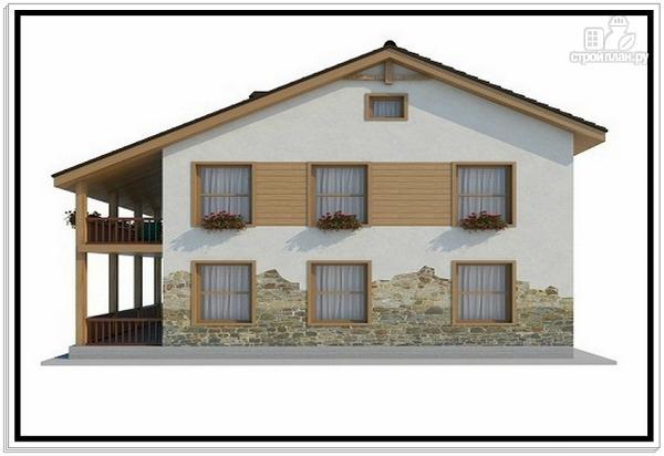 Фото 4: проект дом из пеноблоков с большой террасой