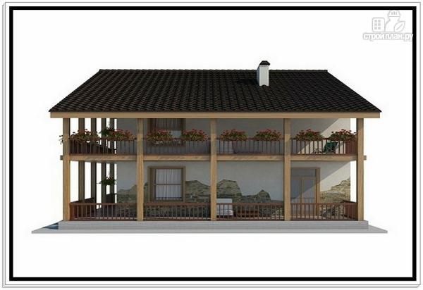 Фото 5: проект дом из пеноблоков с большой террасой