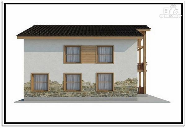 Фото 3: проект дом из пеноблоков с большой террасой