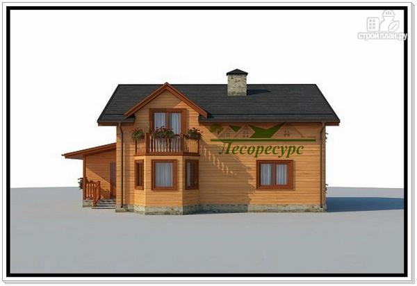 Фото 3: проект дом с эркером и балконом