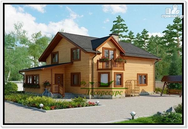 Фото: проект дом с эркером и балконом