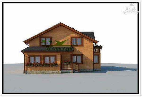 Фото 2: проект дом с эркером и балконом
