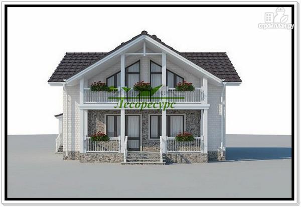Фото 2: проект красивый деревянный дом