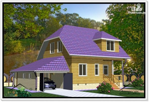 Фото: проект дом из бруса 9 на 13
