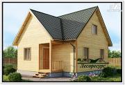 Проект дом из бруса 7.5 на 8