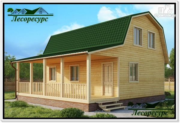 Фото: проект дом с большой террасой