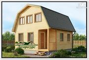 Фото: дачный дом 6 на 6 с мансардой из бруса