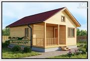 Проект одноэтажный дом 6 на 8