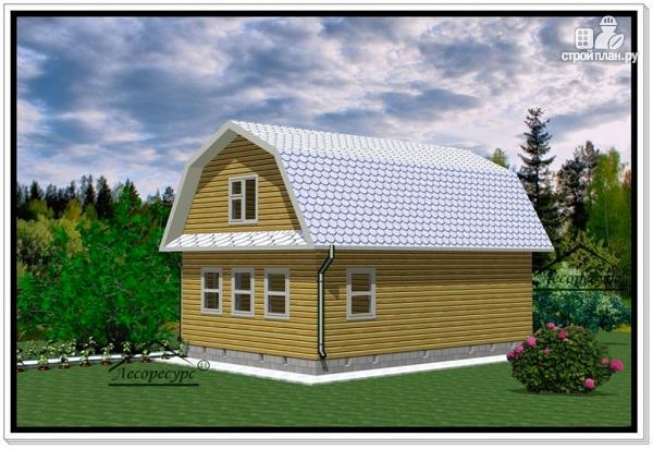 Фото 3: проект дом из бруса 6 на 9 с ломаной крышей
