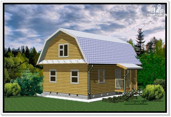 Фото: проект дом из бруса 6 на 9 с ломаной крышей