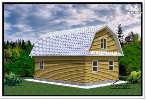 Фото 4: проект дом из бруса 6 на 9 с ломаной крышей