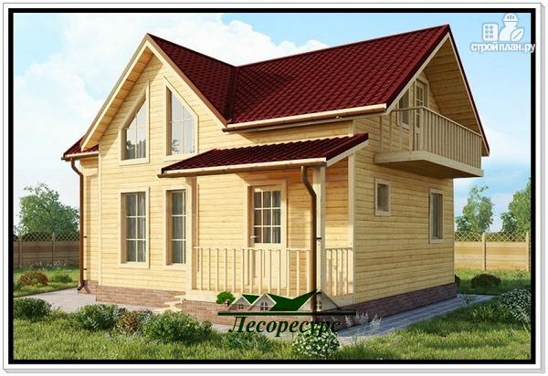 Фото: проект дом из бруса 6 на 10