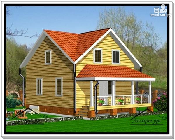 Фото: проект дом из бруса 7 на 10 с мансардой