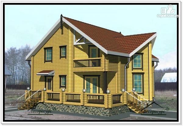 Фото: проект дом из бруса 10 на 12 с мансардой