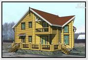 Фото: дом из бруса 10 на 12 с мансардой
