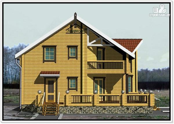 Фото 2: проект дом из бруса 10 на 12 с мансардой