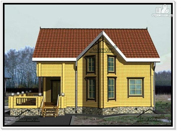 Фото 3: проект дом из бруса 10 на 12 с мансардой