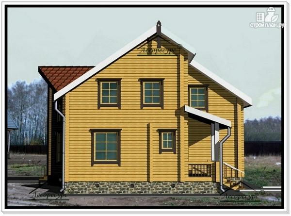 Фото 4: проект дом из бруса 10 на 12 с мансардой
