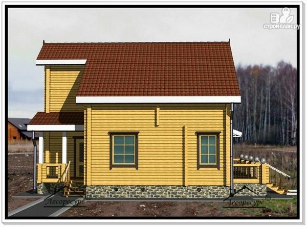 Фото 5: проект дом из бруса 10 на 12 с мансардой