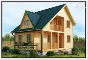 Фото: дом из бруса с большой гостиной