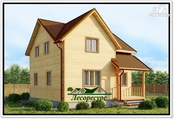 Фото: проект деревянный дом из бруса 7 на 7