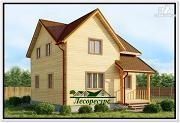 Фото: деревянный дом из бруса 7 на 7