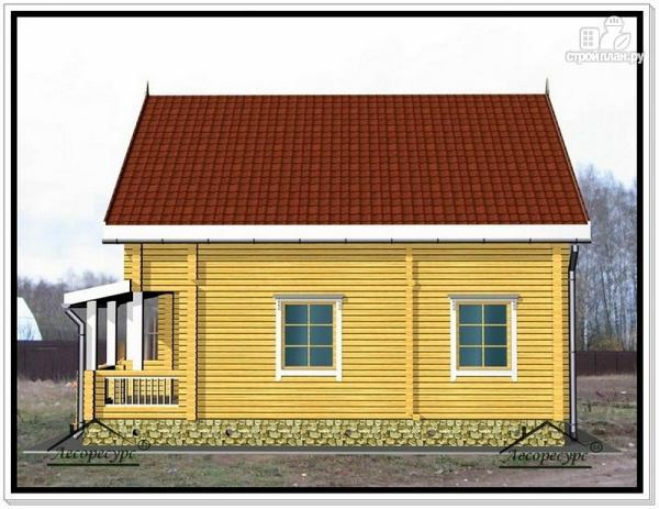 Фото 4: проект дом из бруса 9 на 10 с террасой и мансардой