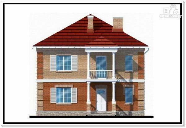Фото 3: проект двухэтажный дом из пеноблоков с террасой