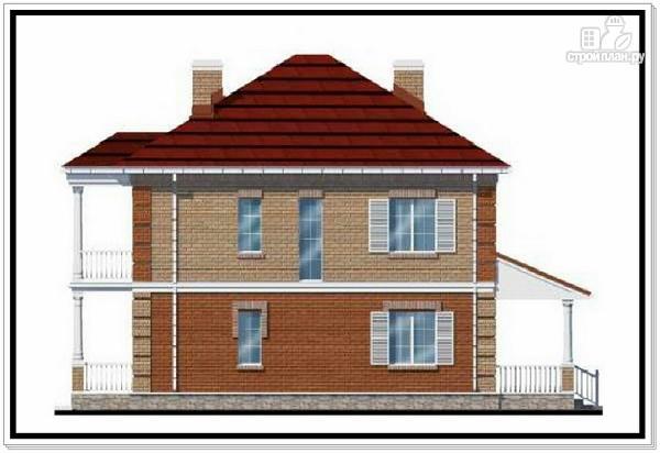 Фото 4: проект двухэтажный дом из пеноблоков с террасой