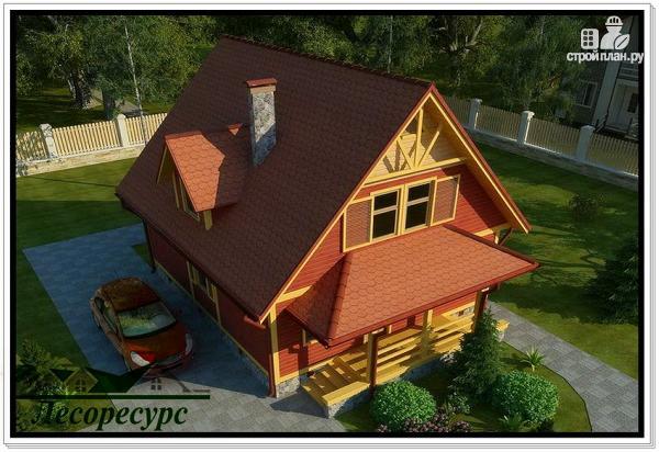 Фото 5: проект каркасный дом с мансардой