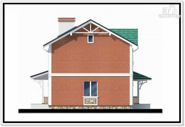 Фото 6: проект двухэтажный дом из пеноблоков с двускатной крышей