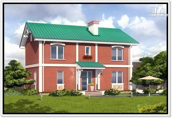Фото 2: проект двухэтажный дом из пеноблоков с двускатной крышей