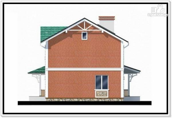 Фото 4: проект двухэтажный дом из пеноблоков с двускатной крышей