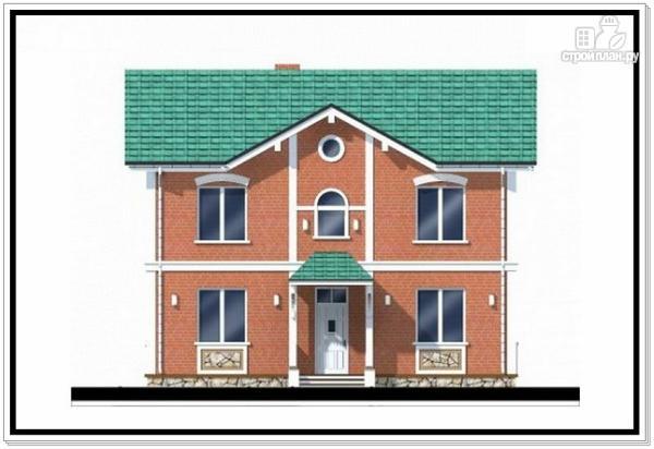 Фото 3: проект двухэтажный дом из пеноблоков с двускатной крышей