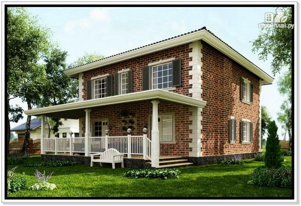 Фото 2: проект классический дом из пеноблоков