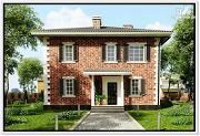 Фото: классический дом из пеноблоков