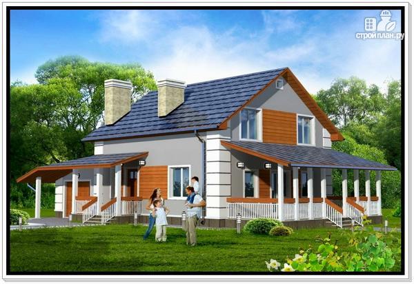 Фото 2: проект 1,5 этажный дом из пеноблоков
