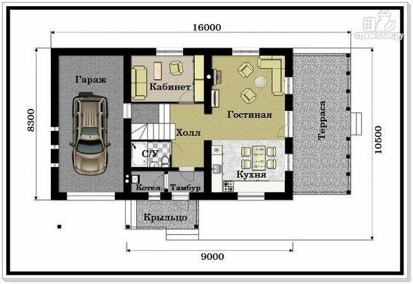 Фото 7: проект 1,5 этажный дом из пеноблоков