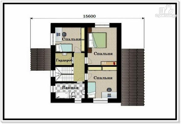 Фото 8: проект двухэтажный дом из пеноблоков с 4 х скатной крышей